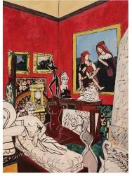 В красной комнате. Рим