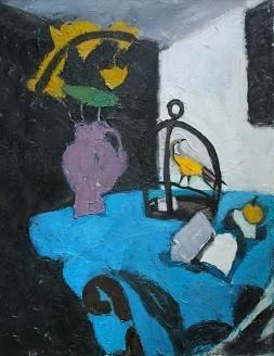 """Blue tablecloth"""